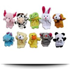10PCS Velvet Animal Style Finger Puppets