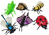 express educational vinyl insect finger puppets