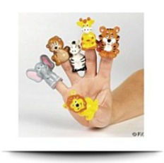 24 Safari Zoo Theme Finger Puppets