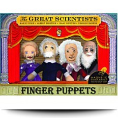 4 Piece Great Scientists Finger Puppet