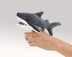mini shark folkmanis finger puppet gray