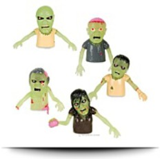 Buy Now 5 Glow Zombie Finger Puppet Set Walking