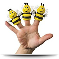 Busy Bee Finger Puppets