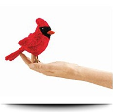 Cardinal Mini Finger Puppet
