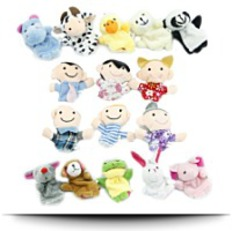 Large 16 Piece Finger Puppet Set
