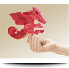 Red Dragon Finger Puppet By Puppets