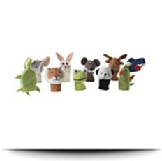 Titta Djur 10 Pc Animal Finger Puppet