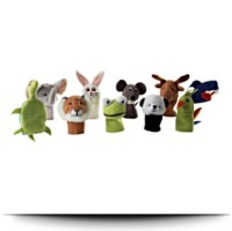 Titta Djur Set Of 10 Finger Puppet
