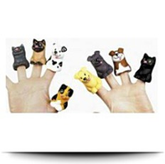 Two Dozen Cat And Dog Finger Puppets
