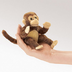 folkmanis mini monkey finger puppet classic