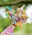 beneath leaf fairy finger puppets trio