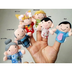 sodial- soft plush family finger puppet