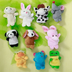 velvet animal style finger puppets family