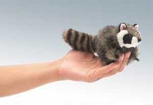 Mini Raccoon 5IN Finger Puppet